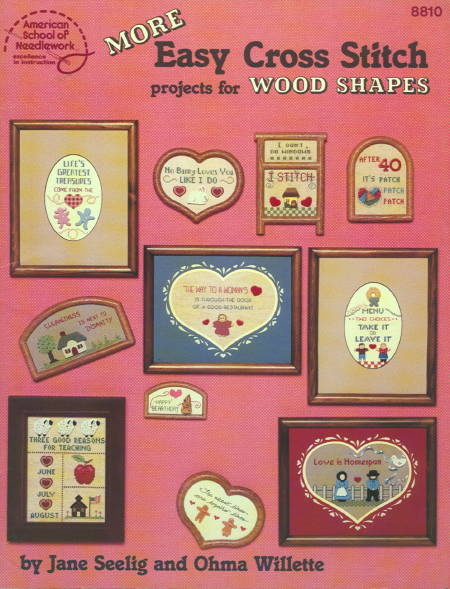 More Easy Cross Stitch Projects for Wood Shapes