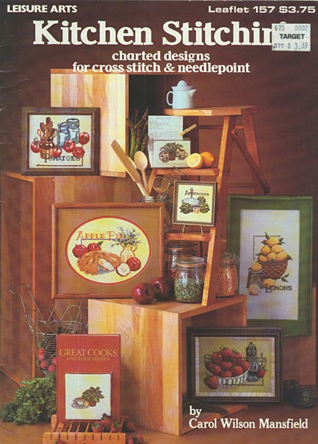 Kitchen stitchin cross stitch home decor pattern book - Home decor books ...
