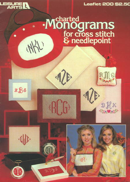 Charted Monograms for cross stitch and needlepoint
