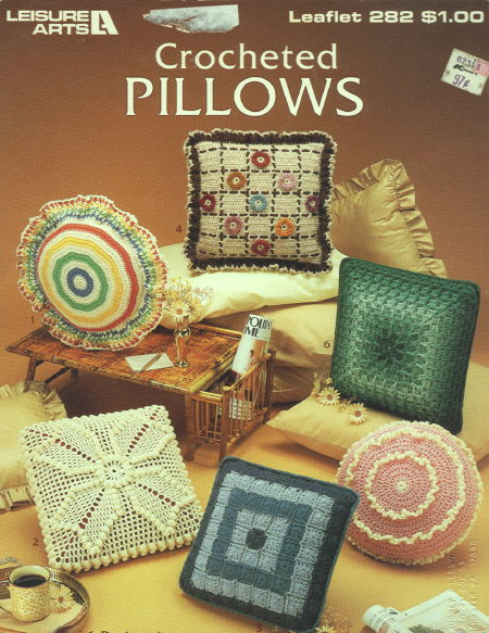 Crocheted pillows crochet home decor pattern book for Crochet decorations for home