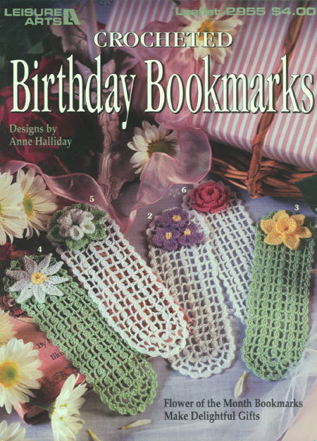 Crocheted Birthday Bookmarks