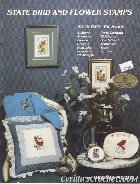 State Bird and Flower Stamps - Book 2 The South