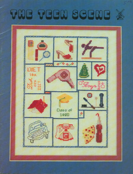 The teen scene cross stitch sampler pattern book