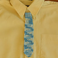 Tie Bookmark (Blue)