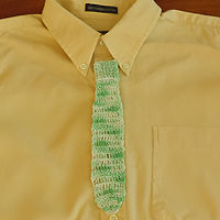 Tie Bookmark (Green)