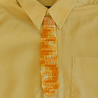 Tie Bookmark (Orange)