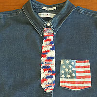 Tie Bookmark (Patriotic)