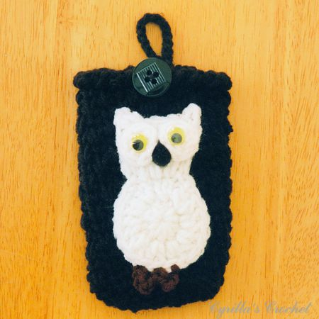 Black Camera Case with White Owl