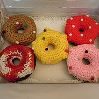 Doughnuts Decorated with Sprinkles