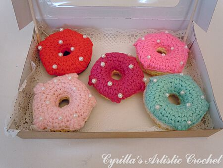 Doughnuts Decorated with Pearl Beads
