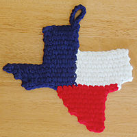 Texas Map Potholder