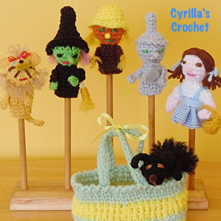 Finger Puppets Crochet Product The Wizard Of Oz Finger Puppet Set