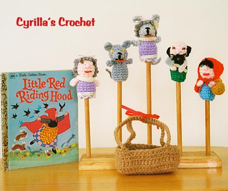 Little Red Riding Hood and The Wolf Finger Puppet Set
