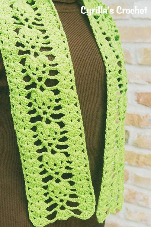 August Birthstone Color Scarf - Peridot
