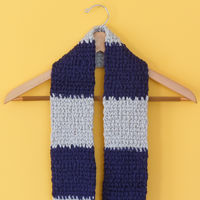 Scarf - Blue and Grey Block
