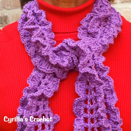 February Birthstone Color Scarf - Amethyst