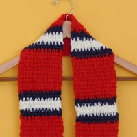 Scarf - Red with White Stripes