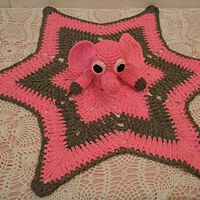 Elephant (Pink) Security Blanket