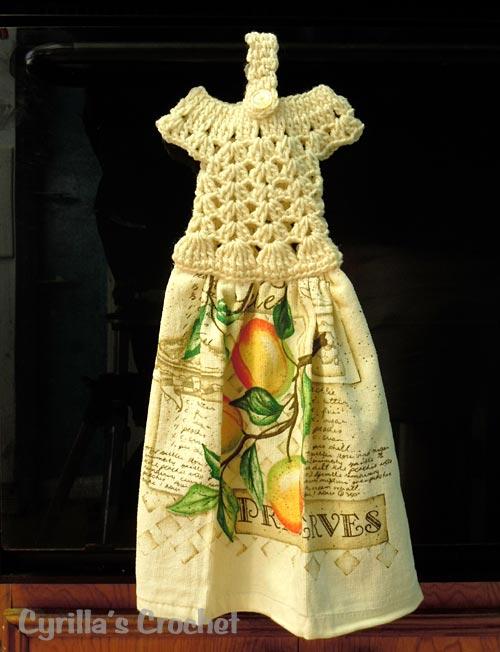 crochet y aquelare: tercer reto vistiendo la cocina