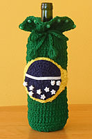 Brazil Flag Wine Gift Bag