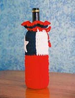 Chile Flag Wine Gift Bag
